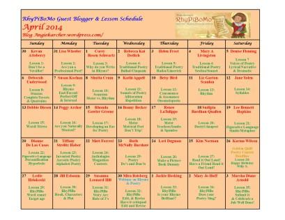 RhyPiBoMo calendar - updated