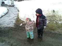 Grey & Phoebe - puddle