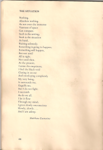 The Situation (poem from Henniker Review)