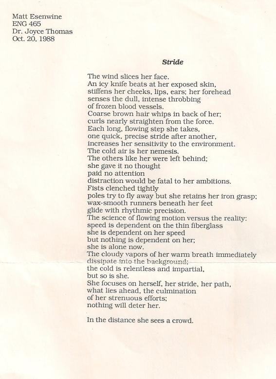Stride (poem)